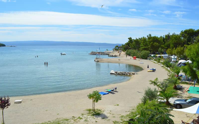spiagge del campeggio Camping Stobreč Spalato Dalmazia Croazia