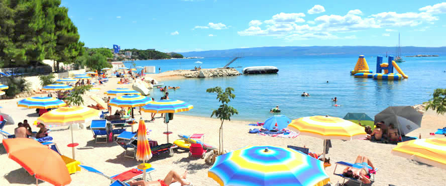 camp beaches Split Dalmatia
