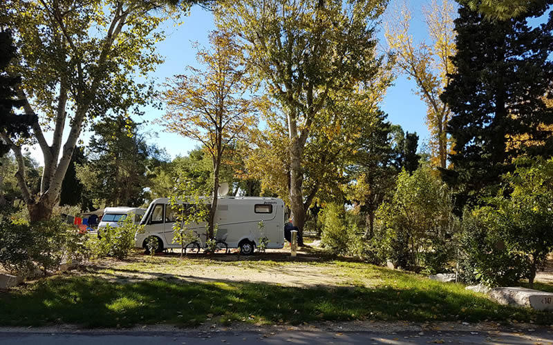 camping in the spring in Split, Dalmatia, Croatia